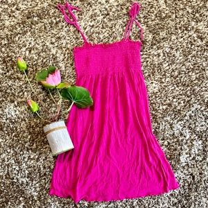 💕Pink Ruffle Top Mini Summer Swimsuit Cover Up👙